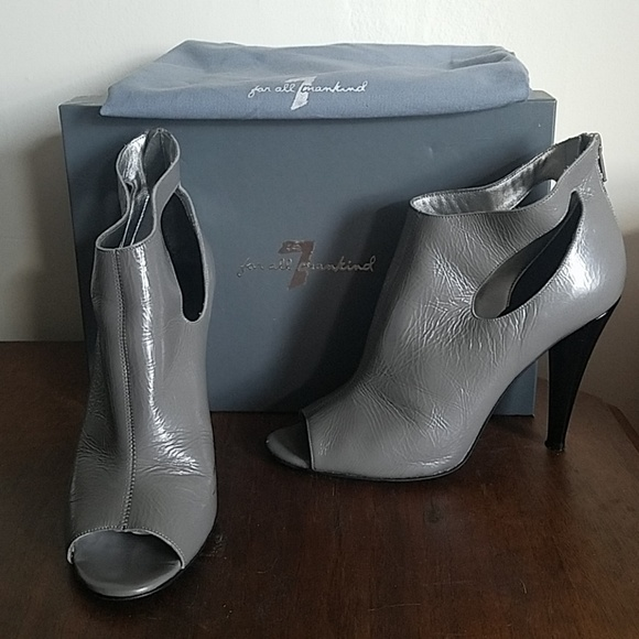 7 For All Mankind Shoes - 7 For All Mankind Neely Zip Peep Toe Bootie 7.5